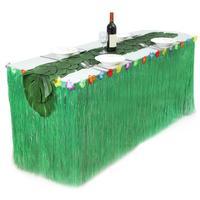 12 قطع كبيرة سلحفاة يترك هاواي تنورة العشب نزهة الجدول الجدول عداء الأخضر الأصفر تنورة حزب الديكور الخارجي مع لاصق
