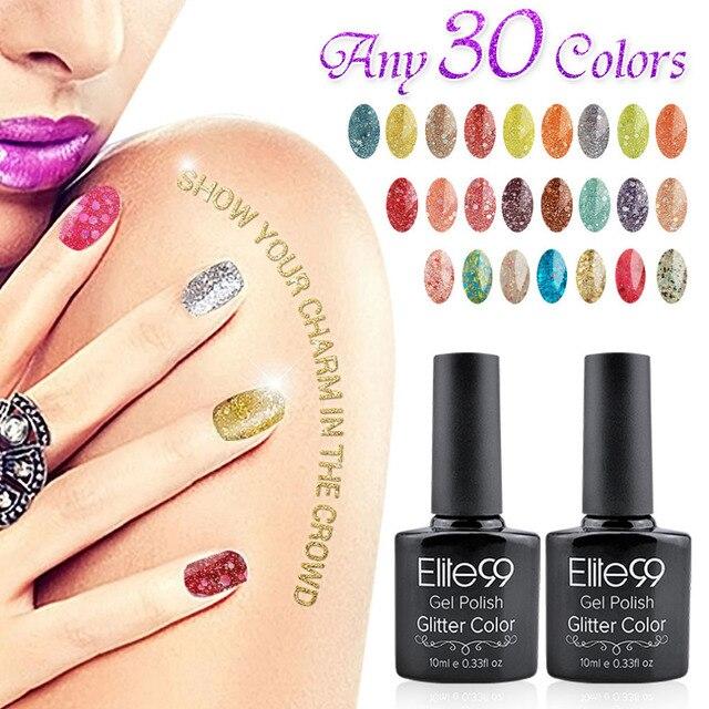 Elite99 Glitter Uv Gel Nail Polish Best Shipping Diamond Art 10ml New Professional