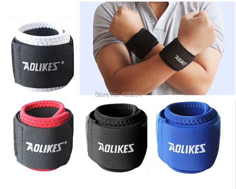 1 pair Elastic Adjustable Wrist Support Brace Neoprene Sports Gym Wrist Protect