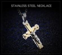 Acero inoxidable de Jesús Cruz Colgante y collares colgantes y Par colgante y collar de cadena hombres y collares para las mujeres