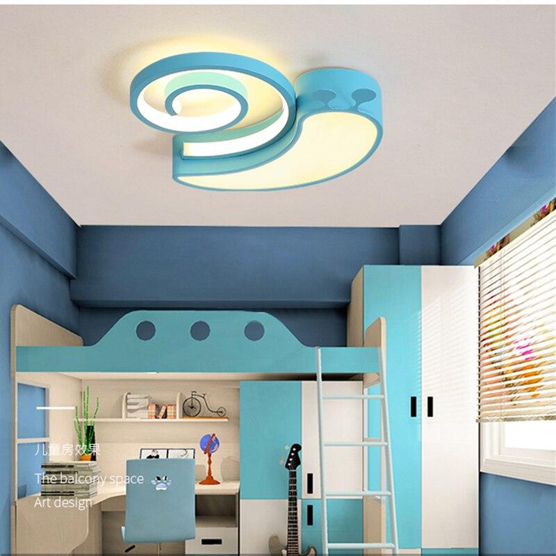 2018 Ins New LED Animal Shape Snail Ceiling Lamps Kid Children Living room Decoration led lamp ceiling design ceiling lamps цена