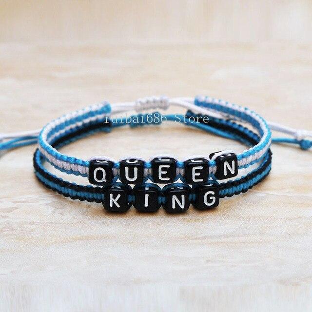 f614307651b9 King Queen pulsera personalizada del encanto