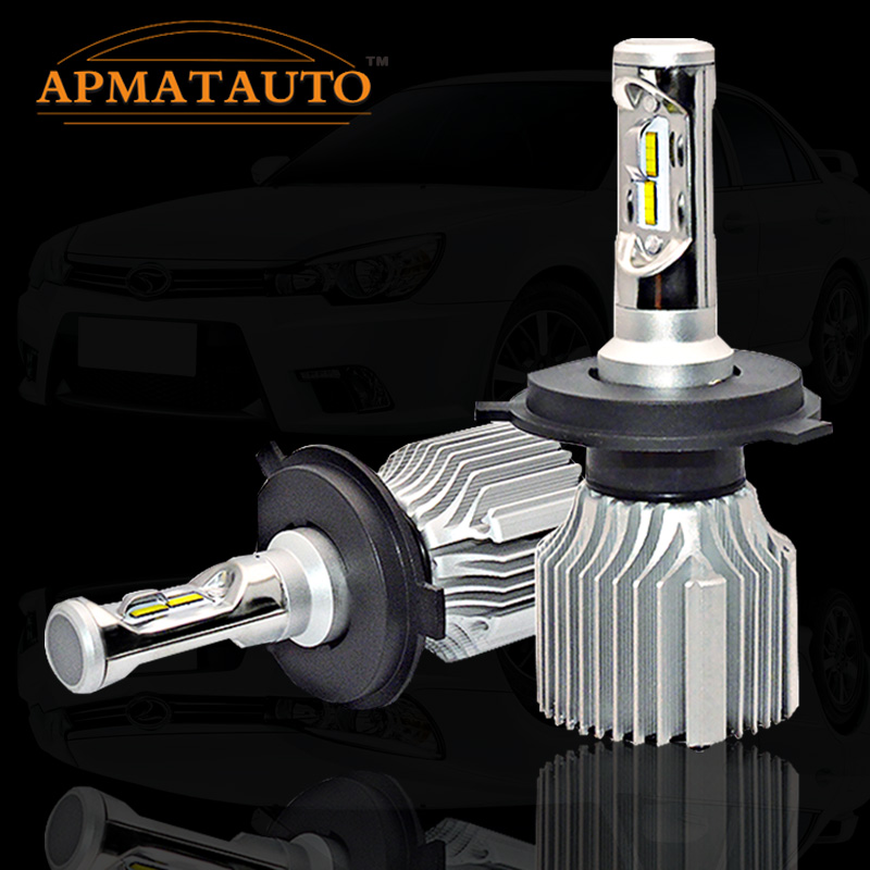 2x 6000k white H7 Led H4 Headlight 6000K Bright Automobile 9005 9006 Front Car Bulbs H11 Led Fog Lamps HB3 HB4 All-in-one