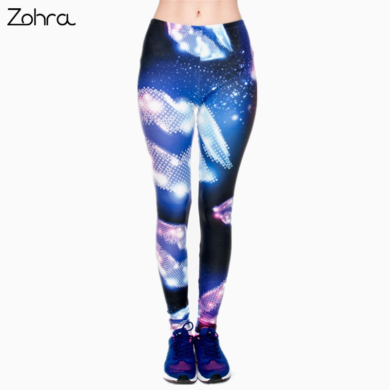 e5acdc72c715e Zohra Purple Stars 3D Graphic Full Printing Legging Women Clothing Ladies  Diamonds Sexy Fitness Pants Leggings-in Leggings from Women's Clothing on  ...
