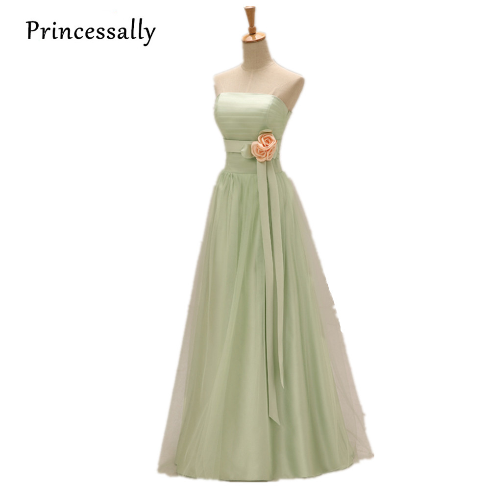 Aliexpress buy light green bridesmaid dresses long with aliexpress buy light green bridesmaid dresses long with yellow flower mint green bridesmaid dresses prom dresses under 50 vestido de festa from ombrellifo Gallery