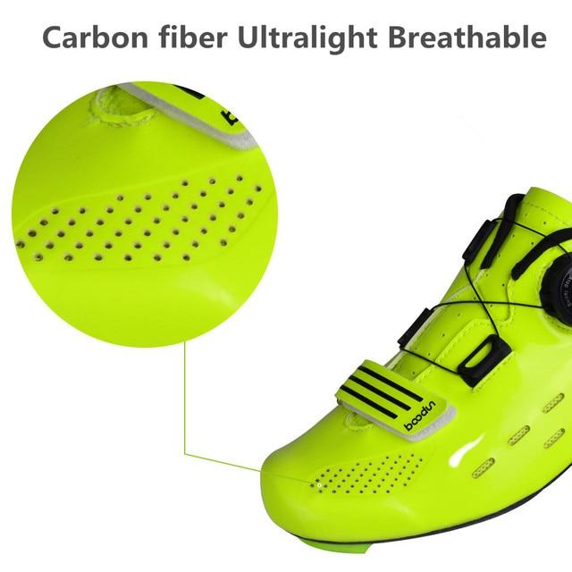 Fechadura para bicicletas de estrada, sapatos profissionais de grau de competição, fibra de carbono, ultraleve, 440g, antiderrapante, respirável, para bicicletas 5