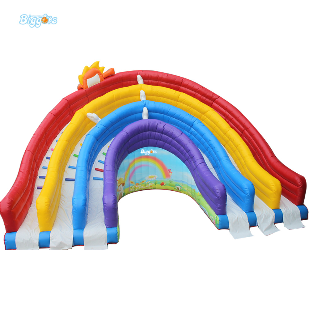 Inflatable Biggors Triple Slide Inflatable Giant Slide For Amusement Park Rental inflatable biggors amusement park inflatable slide with pool for water games
