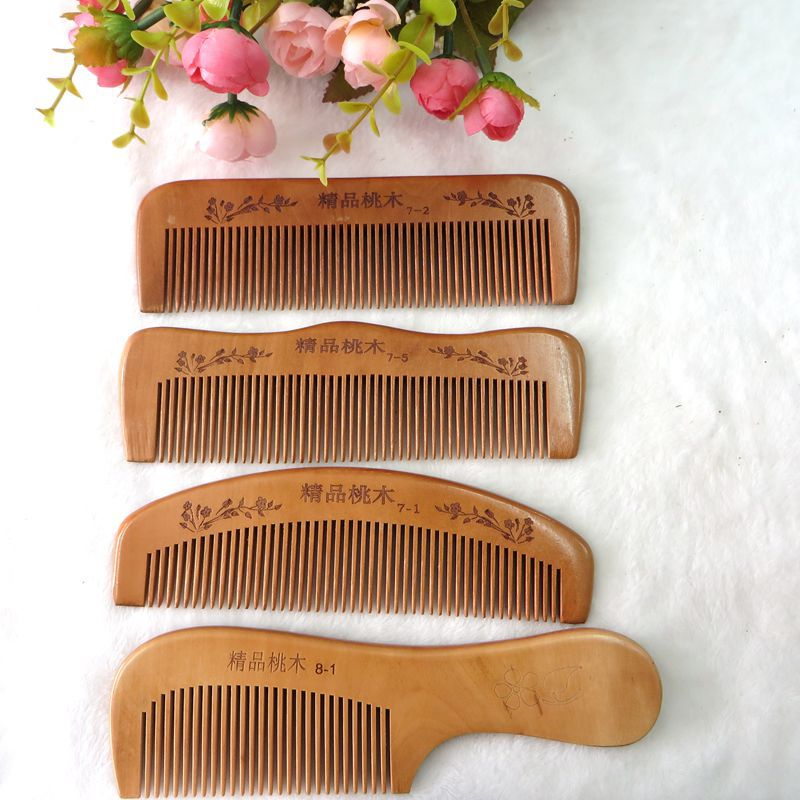 c54 Mahogany comb factory outlets carved old material thicker teeth green sandalwood combed wooden head neck mammary gland meridian lymphatic massage comb wide teeth comb
