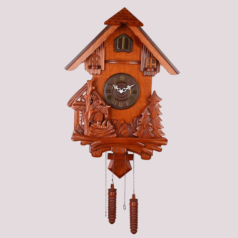 Kućanski sat, zidni sat uredskog prostora za dnevnu sobu, drveni - Kućni dekor - Foto 1