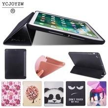 цена на Case for Apple iPad Air 1 A1474`A1475`A1476 . PU leather cover+TPU soft silicone full-angle guard-Smart sleep wake up -YCJOYZW