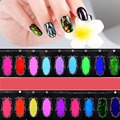 Shattered Glass Nails DIY Nail Foil Transfer Sticker Rainbow Effect Background 18Colors Broken Nail Art Decorations