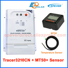 MPPT EPEVER 30A portable solar panel regulator Tracer3210CN with temperature sensor 12v 24v auto work