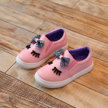 2018 Autumn NEW style little baby girl Casual shoes girls Leisure Kids student Fashion lovely bowknot loafers sport