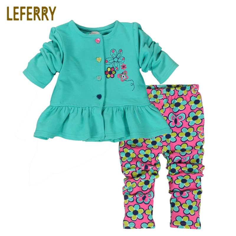 Red/Green Printed Baby Girl Clothing Set Baby Clothes Infant Clothing Baby Outfit Cotton Tops + Legging Suit Sets 2pcs children outfit clothes kids baby girl off shoulder cotton ruffled sleeve tops striped t shirt blue denim jeans sunsuit set