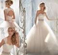 2015 desmontable blusa oficial blanco marfil diamond crystal beaded vestido de novia nuevo vestido de boda 2016, más tamaño al por mayor ele