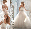 2015 destacável corpete oficial branco marfim frisada de cristal de diamante vestido de casamento novo 2016 do vestido de casamento, plus size atacado elemento