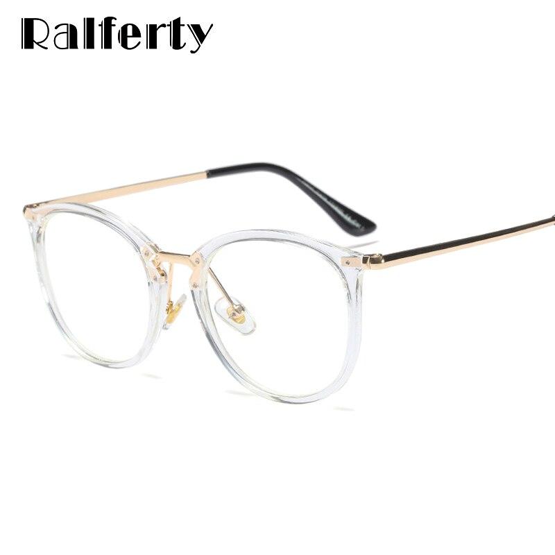 38c1a3aca5f5d Ralferty Mulheres Óculos Claros óculos de Armação Para Óculos de Prescrição  Óptica Óculos de Miopia Grande