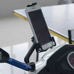 Image 3 - Motorrad Spiegel Halterung Telefon Halter Stehen Roller Rückansicht Montieren Handy Stehen für 3,5 6,5 Inch Mobile Geräte
