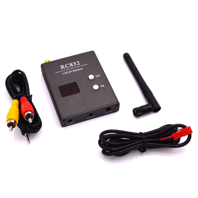 40CH 5.8G 600mw AV Wireless Audio Video TX FPV Receiver TS832 Transmitter Antenna  RC832 For QAV250 FPV Quadcopter free shipping tx600 5 8g 600mw fpv transmitter video tx av 32ch video for for dji phantom 2