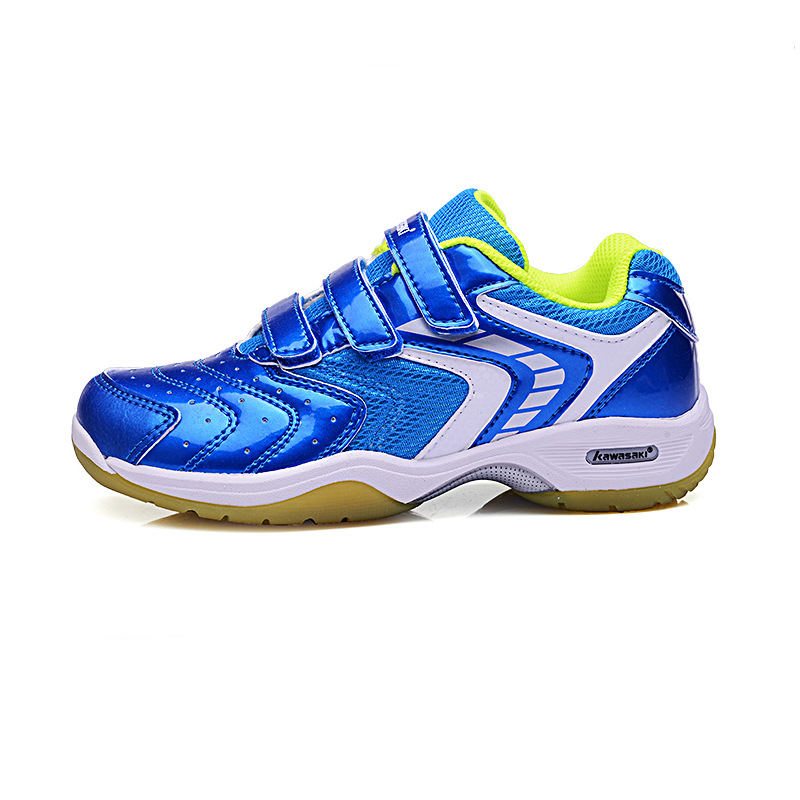 Boys & girls sports shoes Kawasaki Anti-Slippery Children's Badminton Shoes Breathable Outdoor Sport Sneakers For Kids new 2016 boys child sport shoes breathable sneakers trainers children runing shoes for skid breathable mesh baby boys shoes