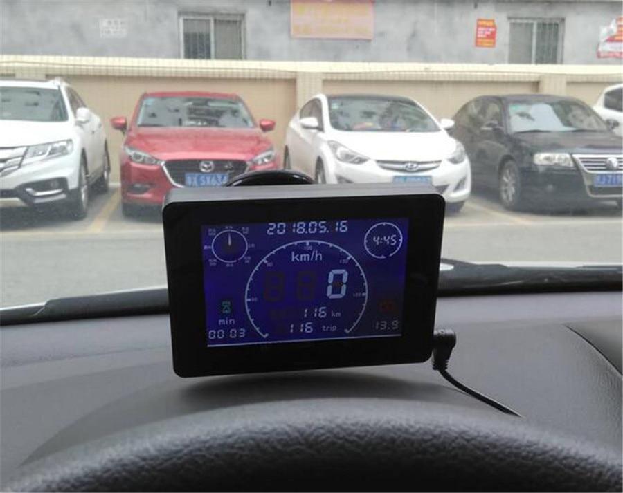 12 v/24 VMultifuntion GPS Sigal Auto Camion Tachimetro Misuratore di Velocità + Contachilometri Gauge + Voltmetro Gauge + Tempo tester di ora