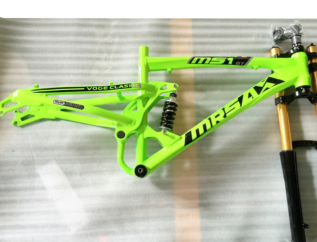 DH 26 17 inch rear shock absorption suspension sitair aluminum alloy off-road fat tire snow beach FR XC DH bicycle frame