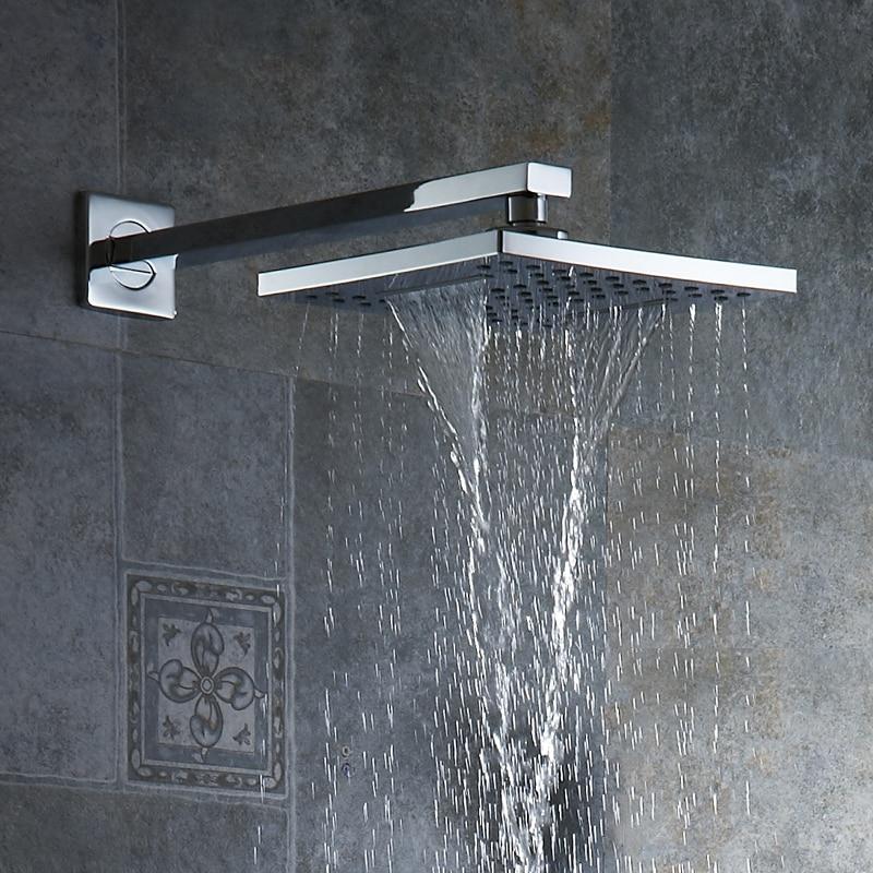 Krom ABS Duş Başlığı Aşırı kafa Duş Püskürtücü tepeden duş başlığı Duvar/Tavana Monte Ücretsiz Kargo Toptan Ve Perakende