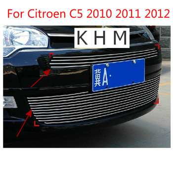 For Citroen C5 2010 2011 2012 High quality stainless steel Front Grille Around Trim Racing Grills Trim Car-covers Car-styling