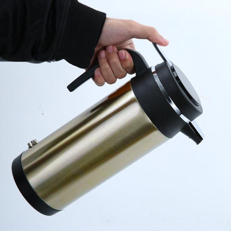 12 V 24 V chauffage électrique voiture camion thermique vide flacons Thermos bouteille grand thé en acier inoxydable isolation Pot bouilloire en plein air-in Récipients isothermes et thermos from Maison & Animalerie    1