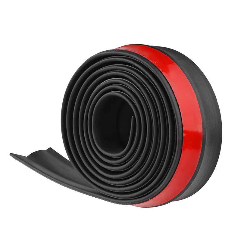 2,5 м автомобильный протектор из углеродного волокна, передний бампер, разветвитель для губ, автомобильный стикер, Внешний бампер, полосы для губ, автомобильные боковые юбки, автомобильная Резиновая полоса