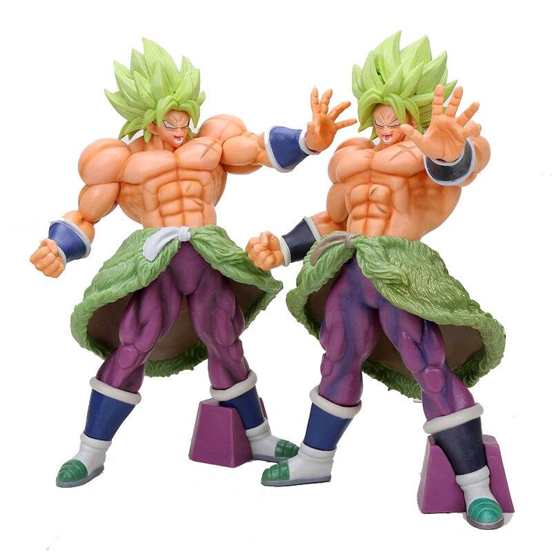 Anime 32 cm Dragon Ball Z Super Saiyan Broly le 20th film PVC figurine à collectionner modèle jouet cadeau