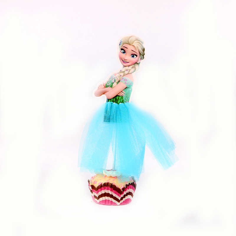 1 шт./партия, Милая Вечеринка с принцессой Эльзой, кекс для семьи, детский душ, украшения для дня рождения