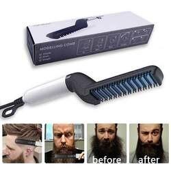 Многофункциональная расческа для волос, щетка для бороды, выпрямитель для волос, выпрямитель для волос, расческа для завивки волос, быстрый