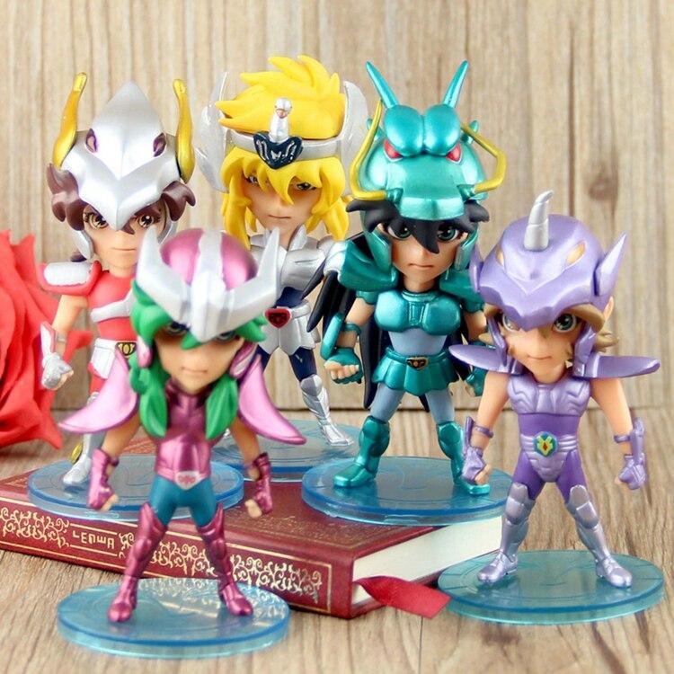 Action Anime Figures Saint Seiya Myth Cloth Shiryu Shun Hyoga Jabu 10cm PVC Figure Model Toys Gifts Collection