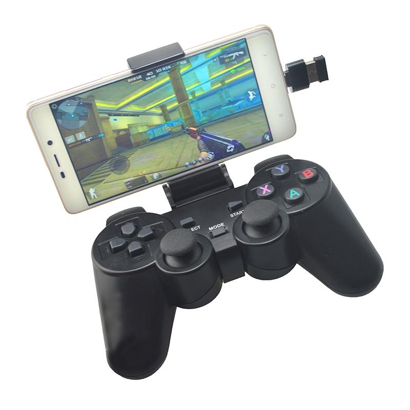 PC Gamepad sem fio Para PS3 Telefone Android Caixa De TV 2.4G sem fio Joystick Joypad Controlador de Jogo Remoto Para Xiaomi OTG Inteligente telefone