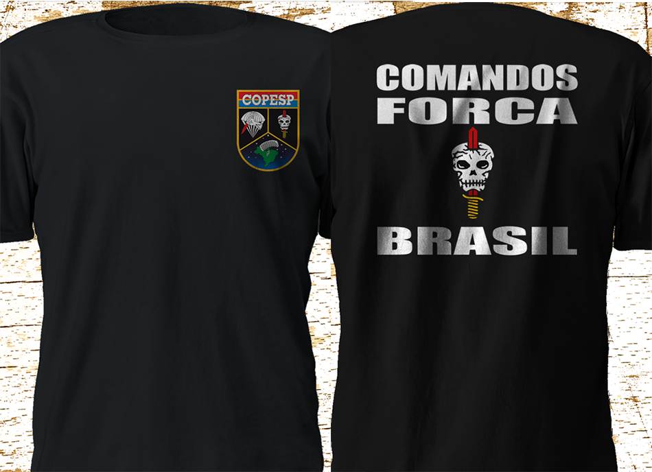 2019 Funny Copesp Special Operations Command Brasil Brazil Military Forces Bope Black Double Side Unisex Tee in T Shirts from Men 39 s Clothing