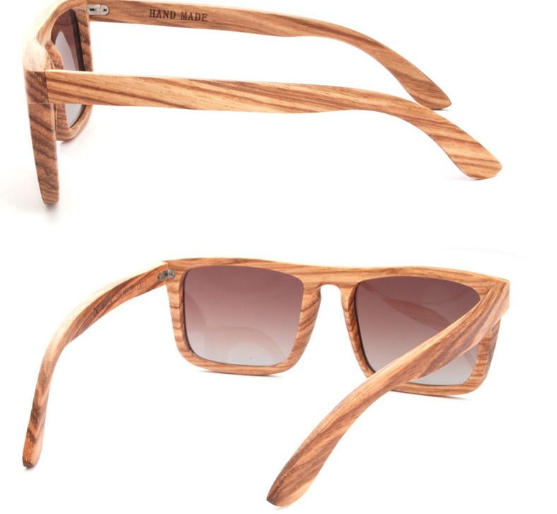 2017 fashion vintage wood frame polarized sunglasses high quality wooden frame glasses polarized sunglasses for men and women in sunglasses from mens - Wood Frame Glasses