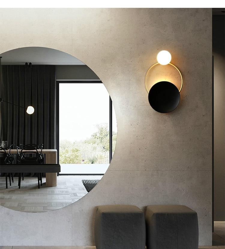 Nordic quarto lâmpada de parede led scone
