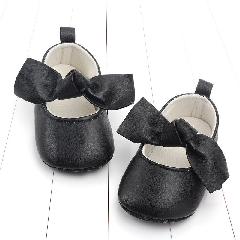 PU Leather Baby First Walkers Shoes Bow Soft Soled Anti-slip Footwear Crib Baby Girl Shoes Infant Toddler Best Gifts for Newborn (1)