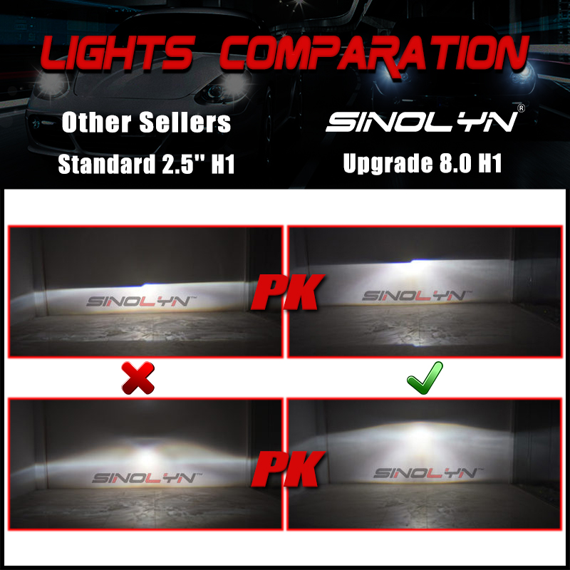8.0lights comparation