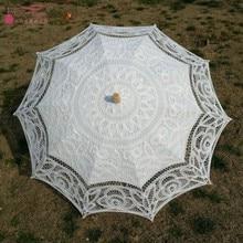 Винтажный Викторианский кружевной зонтик 68 см длина Свадебный зонтик Кружева Свадьба невесты зонтик DQG679