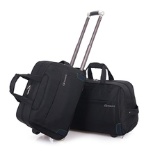 New Foldable Fashion Simple Men Woman Trolley Travel Bag Multi-function Large Capacity Ladies Aircraft Bag