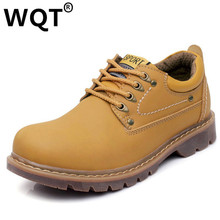 2016 Genuine Leather Bottes Warm Winter Shoes Men Boots Comfortable High Quality Timber Snow Ankle Boots Men Zapatillas Hombre