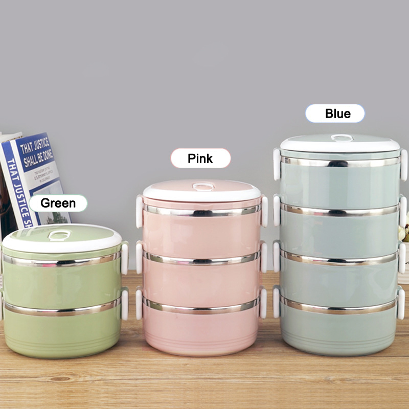Stainless Steel LunchBox Thermal Food Box Portable Lunch Box For Picnic School Office HG99