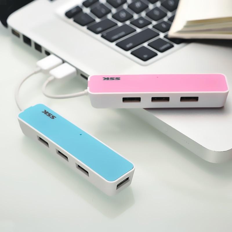 SSK shpërndarës i nxehtë USB2.0 shpërndarës shumëngjyrësh me Zgjerim 4 porte USB për laptopë laptopë MAC IOS të luajë dhe të mbështesë shkëmbimin e nxehtë