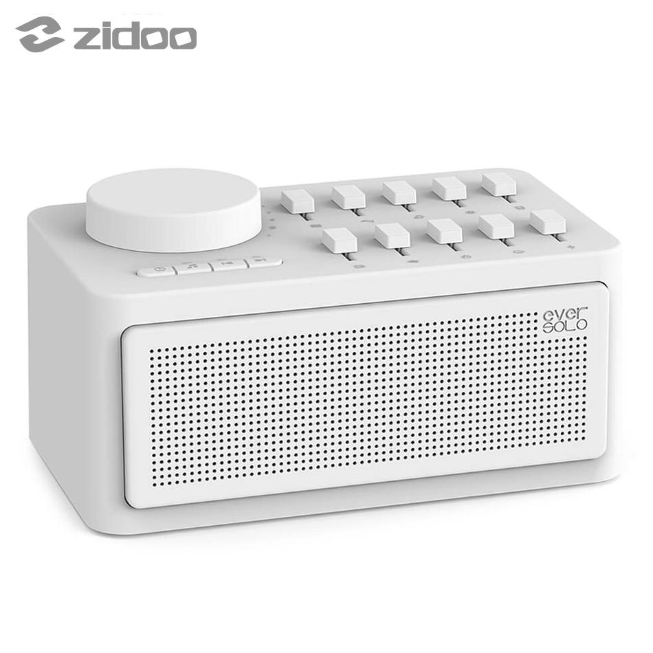 Zidoo Eversolo Sleep Aid Machine Sleep Therapy Wireless Speaker White Noise Generator Bluetooth Sleep Sound Machine Eversolo baby therapy sound machine white noise portable sleep soother machine record voice sensor soothing music sleep therapy regulator