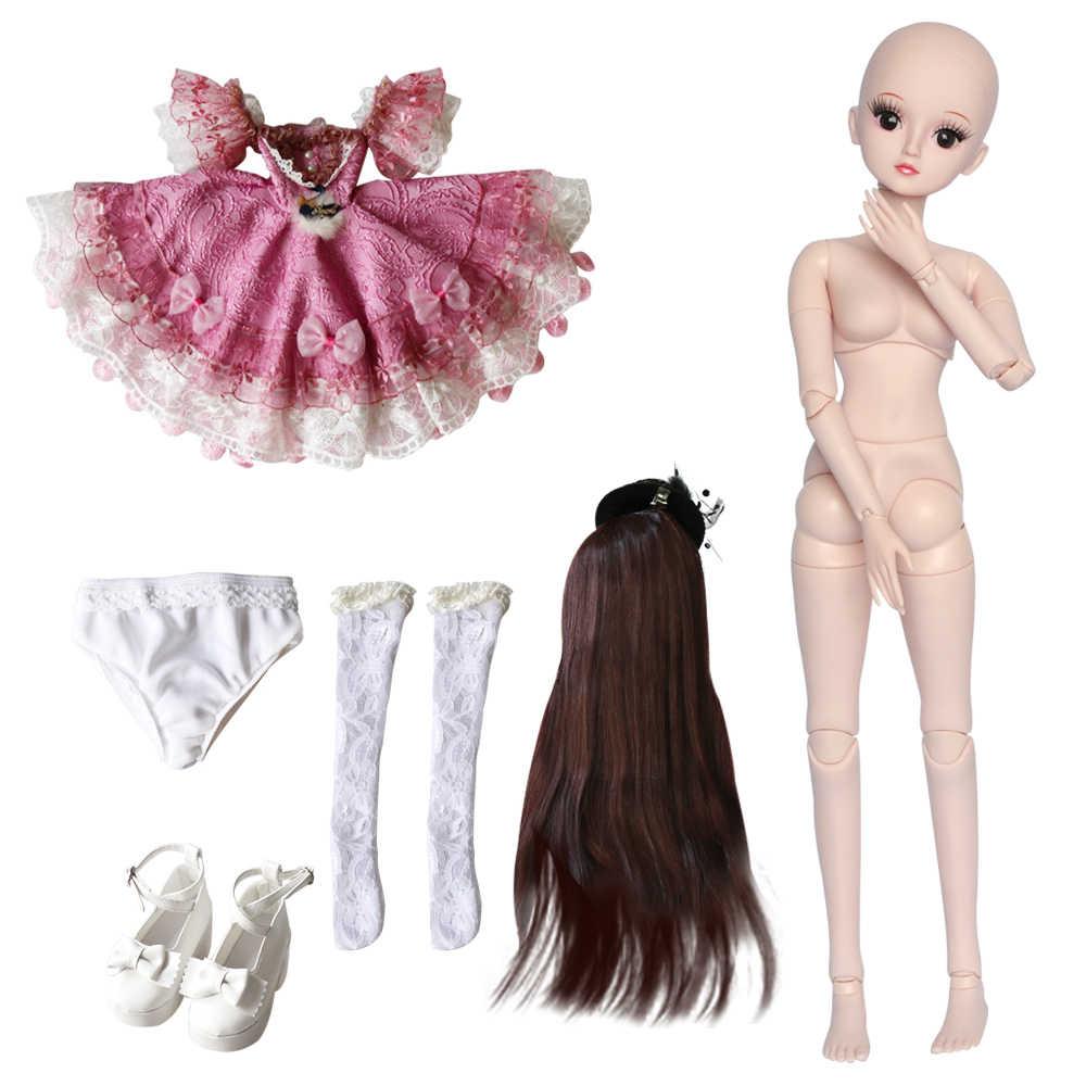 UCanaan 23.6 Polegada Bonecas com Juntas de Bola 19 SD Roupa Da Boneca BJD Sapatos Roupa Peruca de Cabelo e Maquiagem para o Presente Meninas e Coleção de Bonecas
