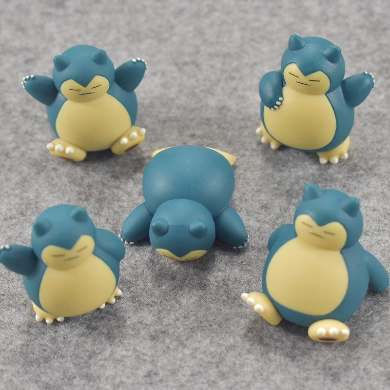Original Snorlax with marks on the body anime cartoon action & toy figures Collection model toy KEN HU STORE pokemones