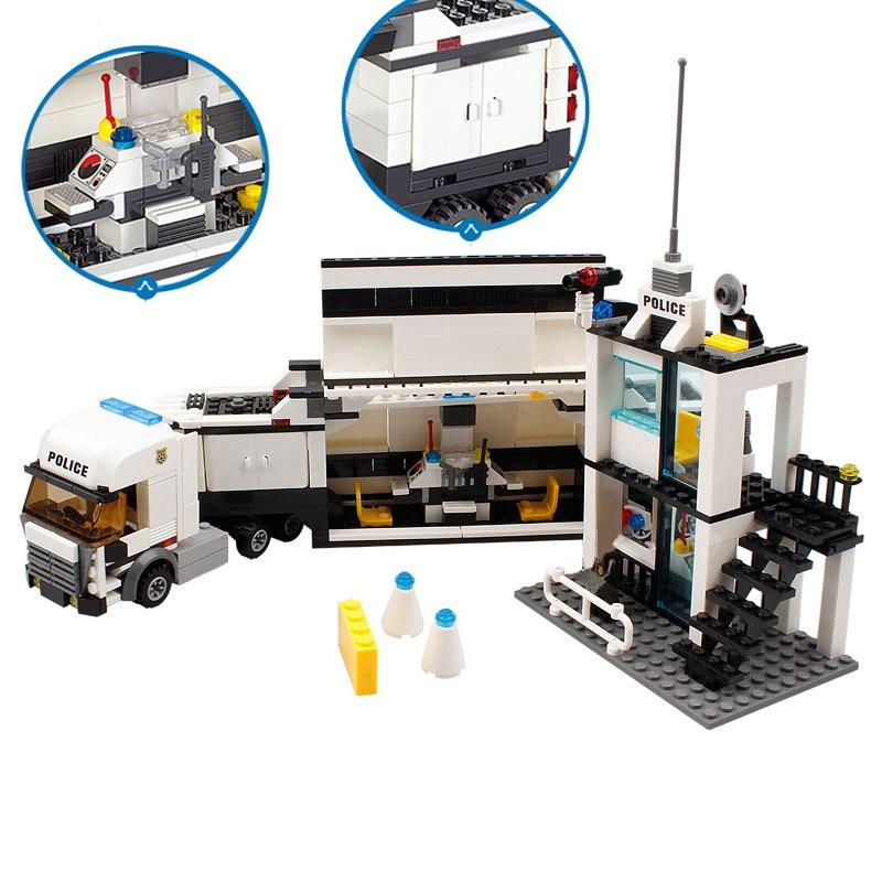 דגם בניין 6727 City Street Police Station Car Truck Building Blocks Bricks  Educational Toys For Children Gift Christmas Legoings 511Pcs 9202750f44