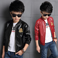 2017 spring autumn Kids Boys faux Leather Zip Jacketbjacket coat outer clothingb comfortable cute baby Clothes Children Clothing